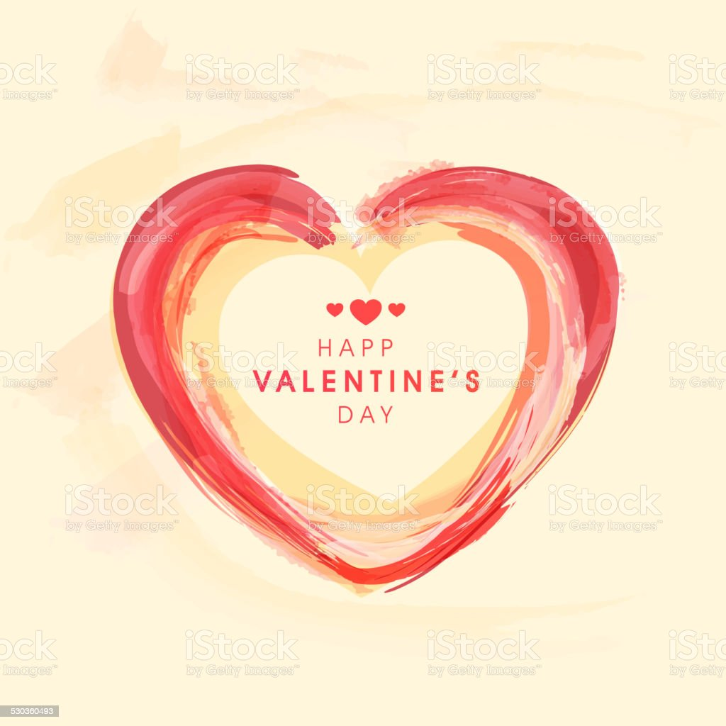 Valentine's Day celebration with heart shape. vector art illustration