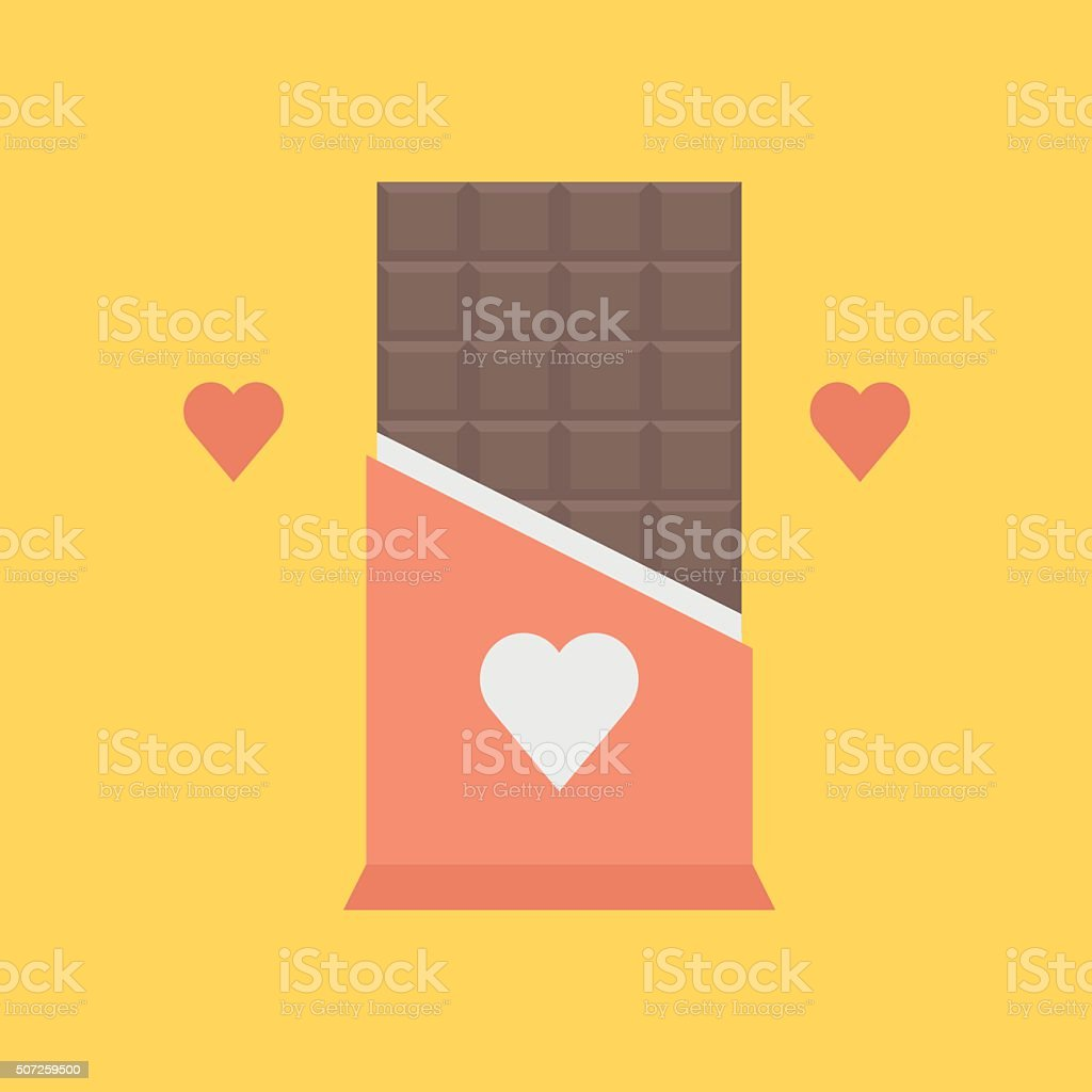 Valentines day chocolate icon vector art illustration