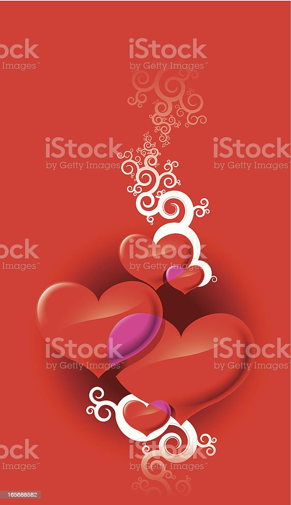 Valentines Day composition royalty-free stock vector art