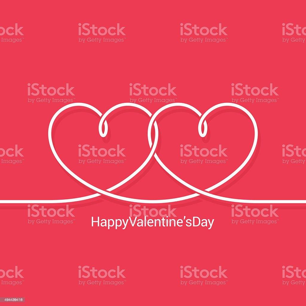 valentines day concept vector background vector art illustration
