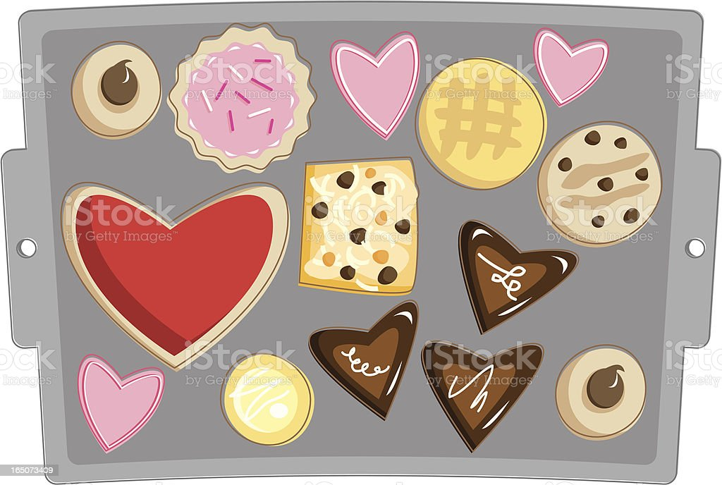 Valentine's Day Cookies royalty-free stock vector art