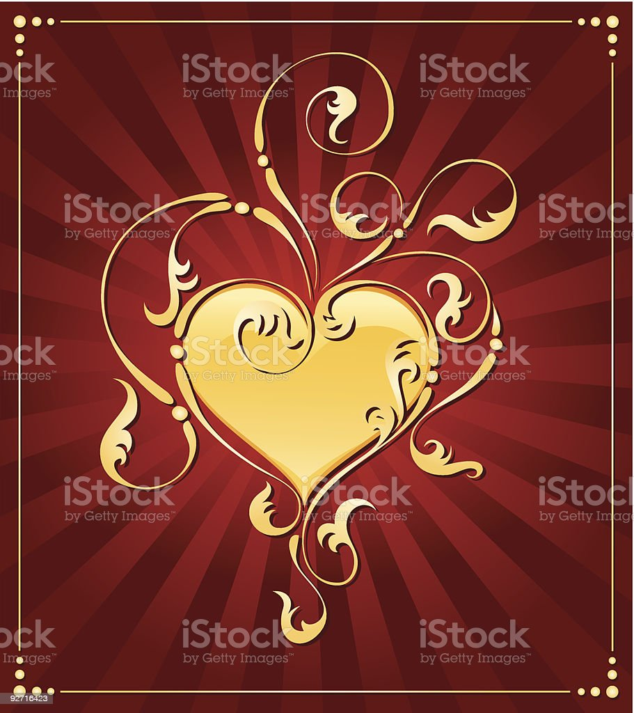 Valentine's Day decoration royalty-free stock vector art