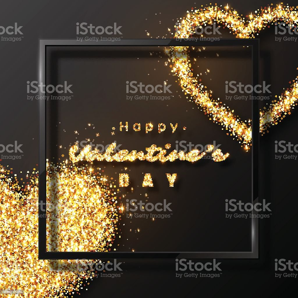 Valentine's day design. vector art illustration