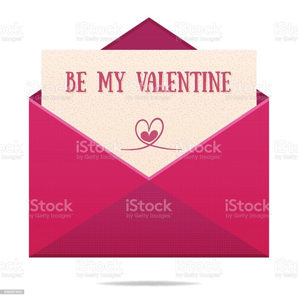 Valentines day envelope vector art illustration