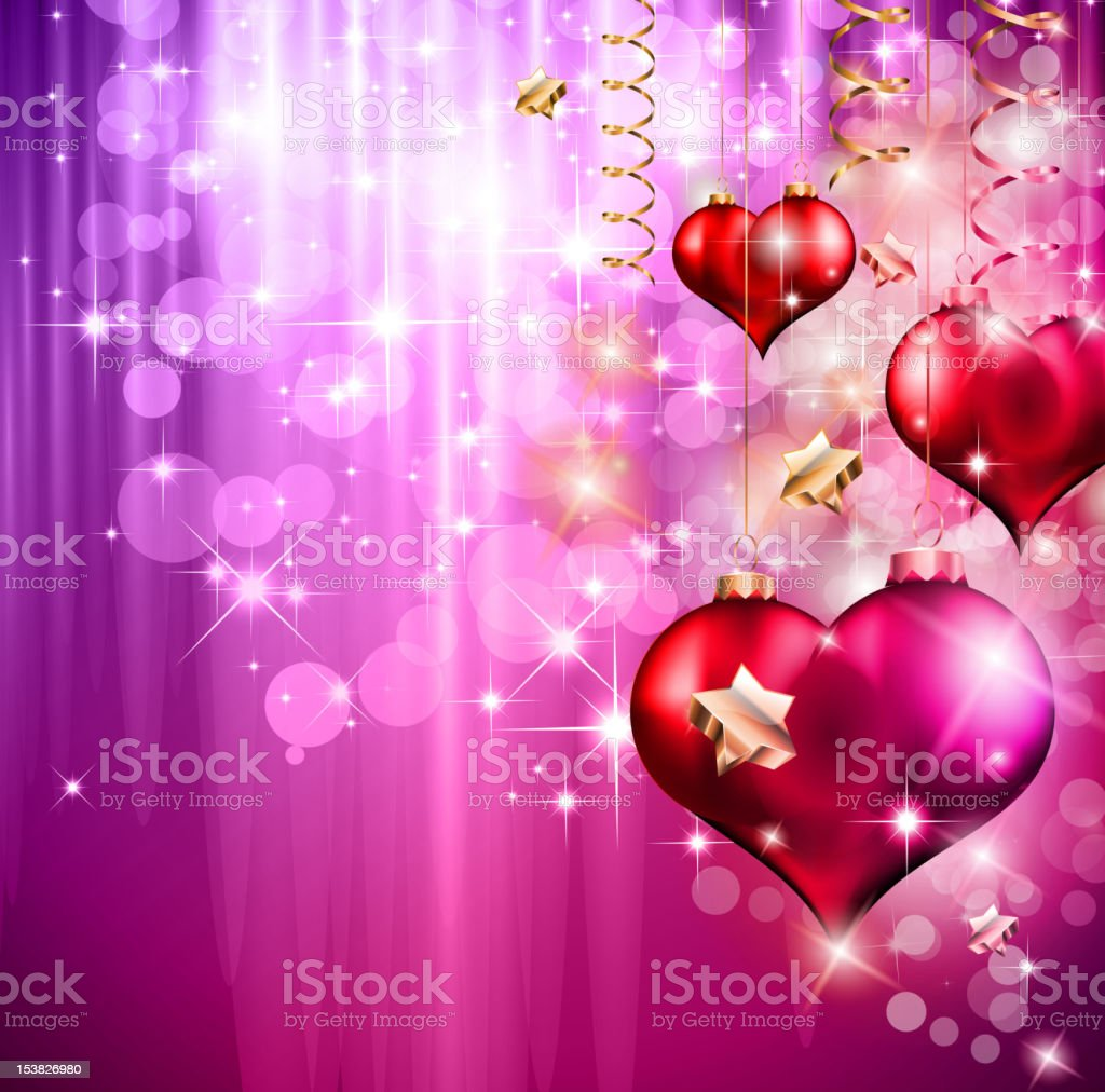 Valentine's Day Flyer with a glitter background royalty-free stock vector art