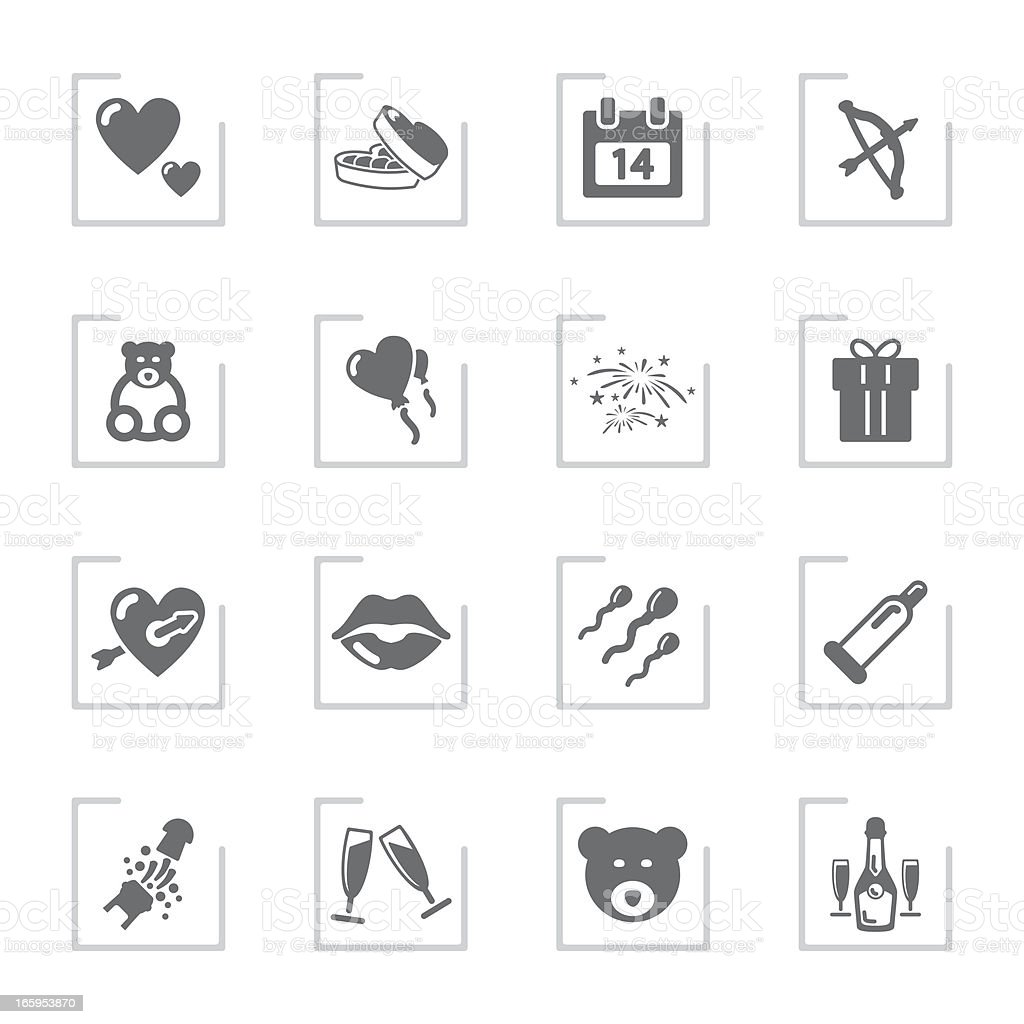 Valentine's Day | Framed Grey royalty-free stock vector art