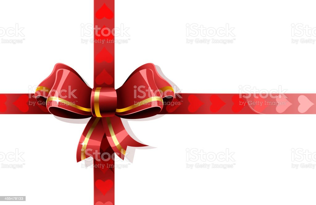 valentine's day gift ribbon royalty-free stock vector art