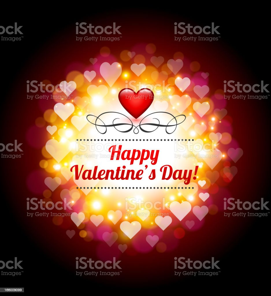 Valentine's Day Greeting card Background royalty-free stock vector art