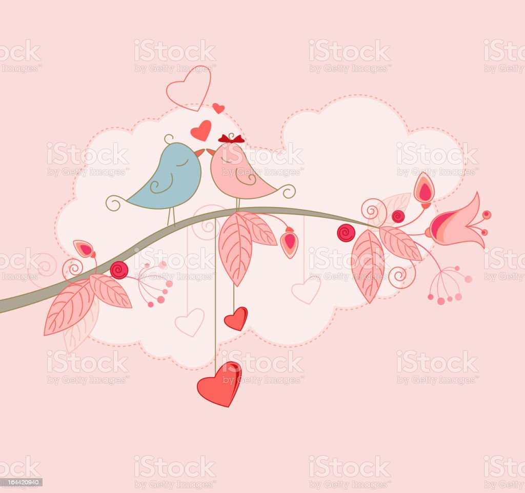 A Valentine's Day greeting card design vector art illustration