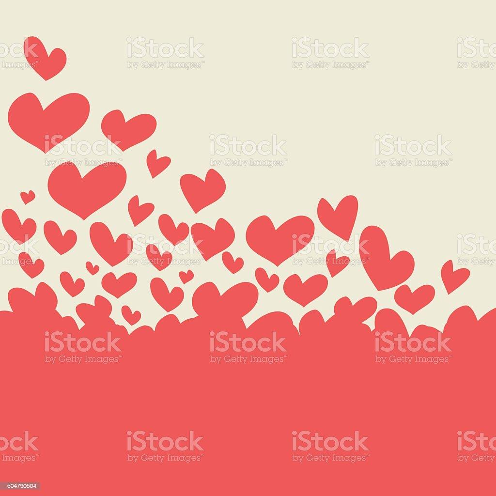 Valentine's Day Greeting Card vector art illustration