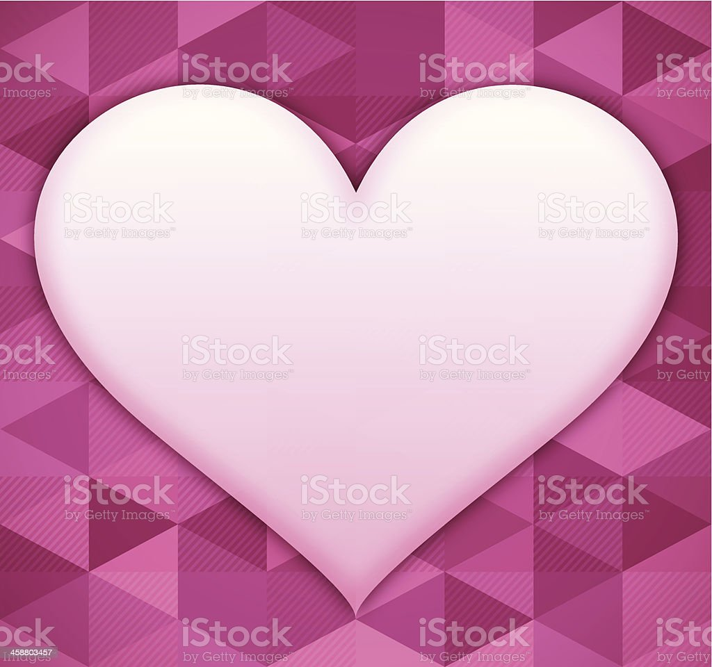 Valentine's Day Heart Background vector art illustration