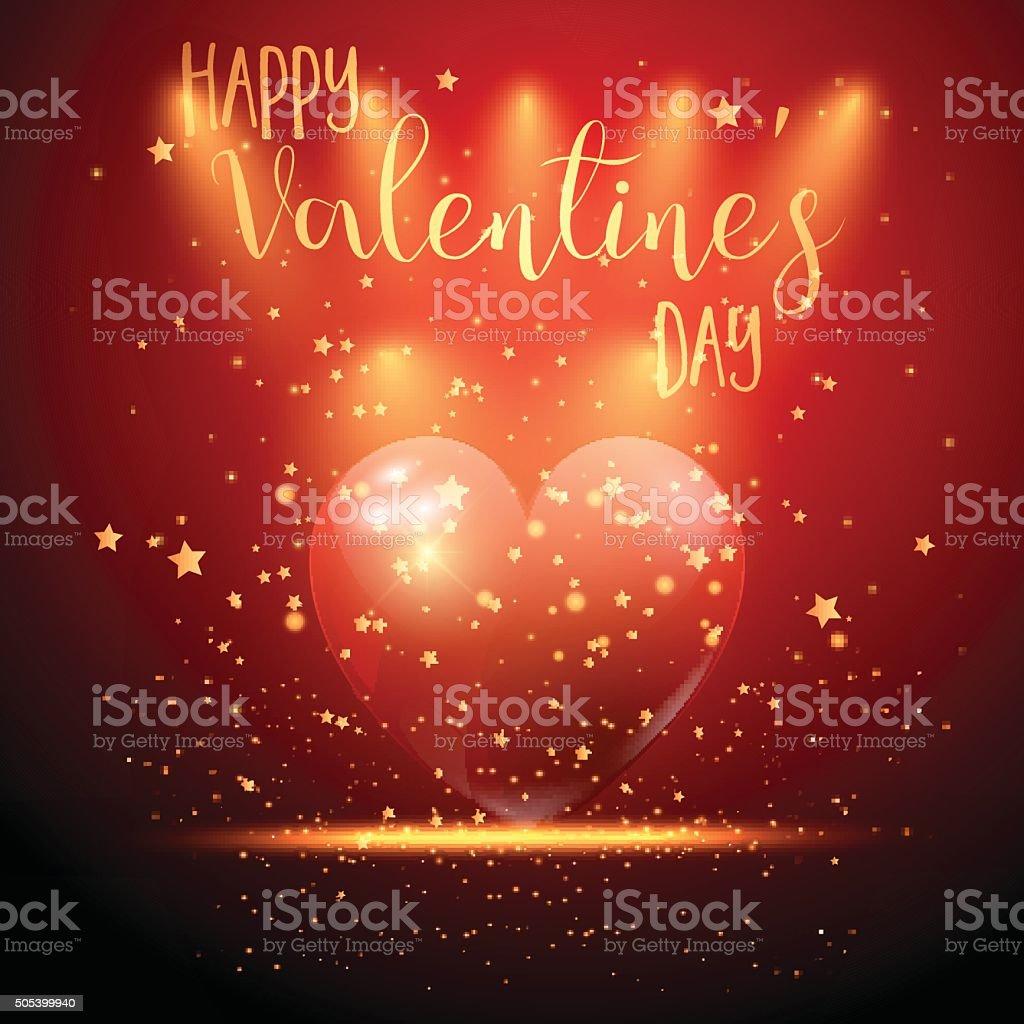 Valentine's Day heart background vector art illustration