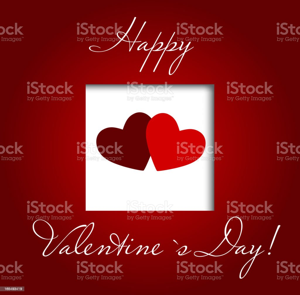 Valentines day heart background, vector illustration royalty-free stock vector art