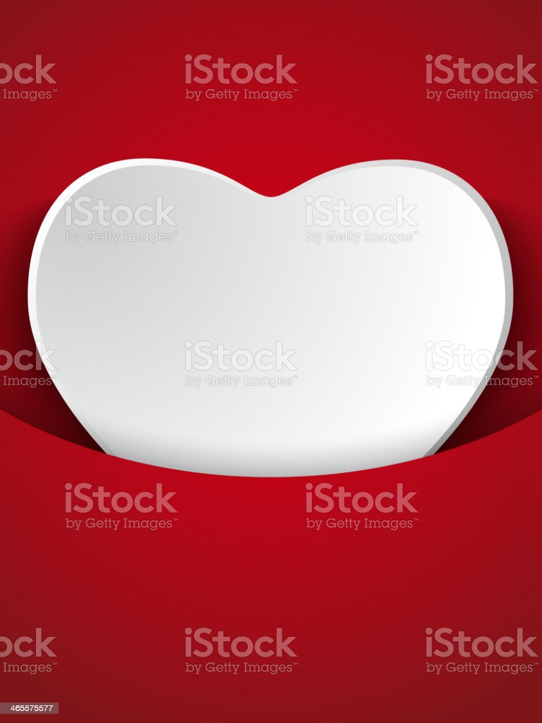 Valentine's Day Heart on Red Background royalty-free stock vector art
