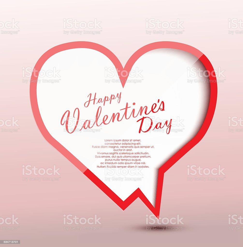 Coeur Saint-Valentin stock vecteur libres de droits libre de droits