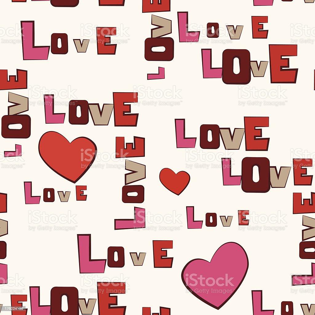 Dia dos Namorados coração amor sem costura padrão vetor e ilustração royalty-free royalty-free