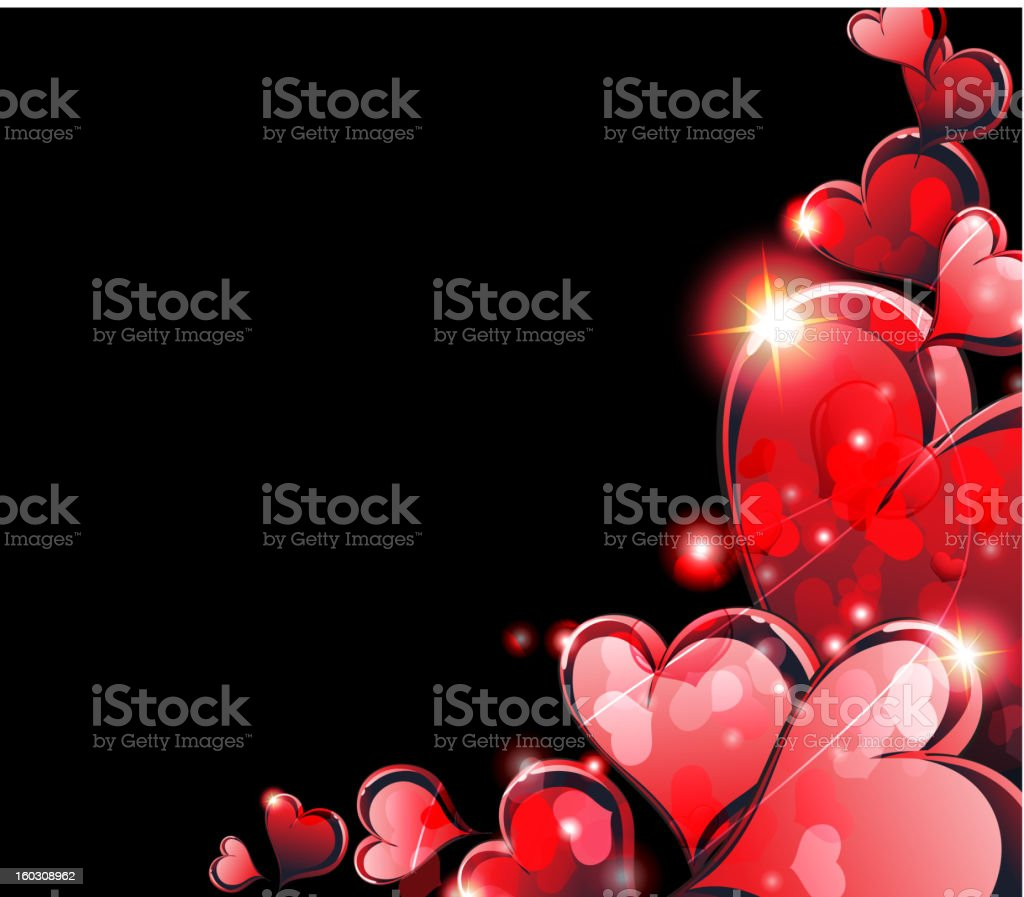 Valentine's Day hearts royalty-free stock vector art