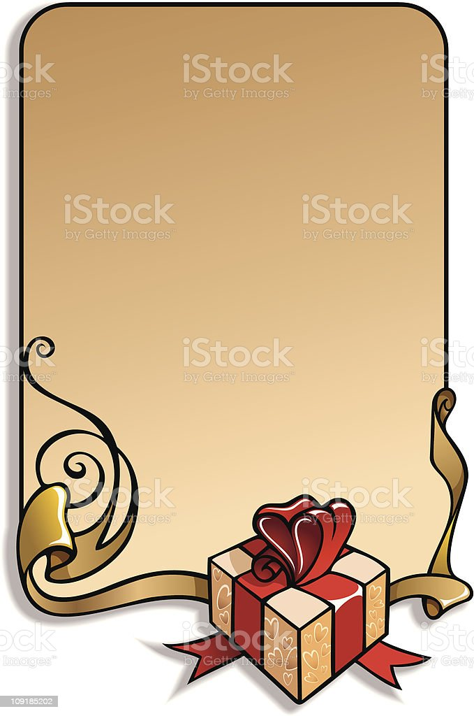 Valentine's Day holiday frame royalty-free stock vector art