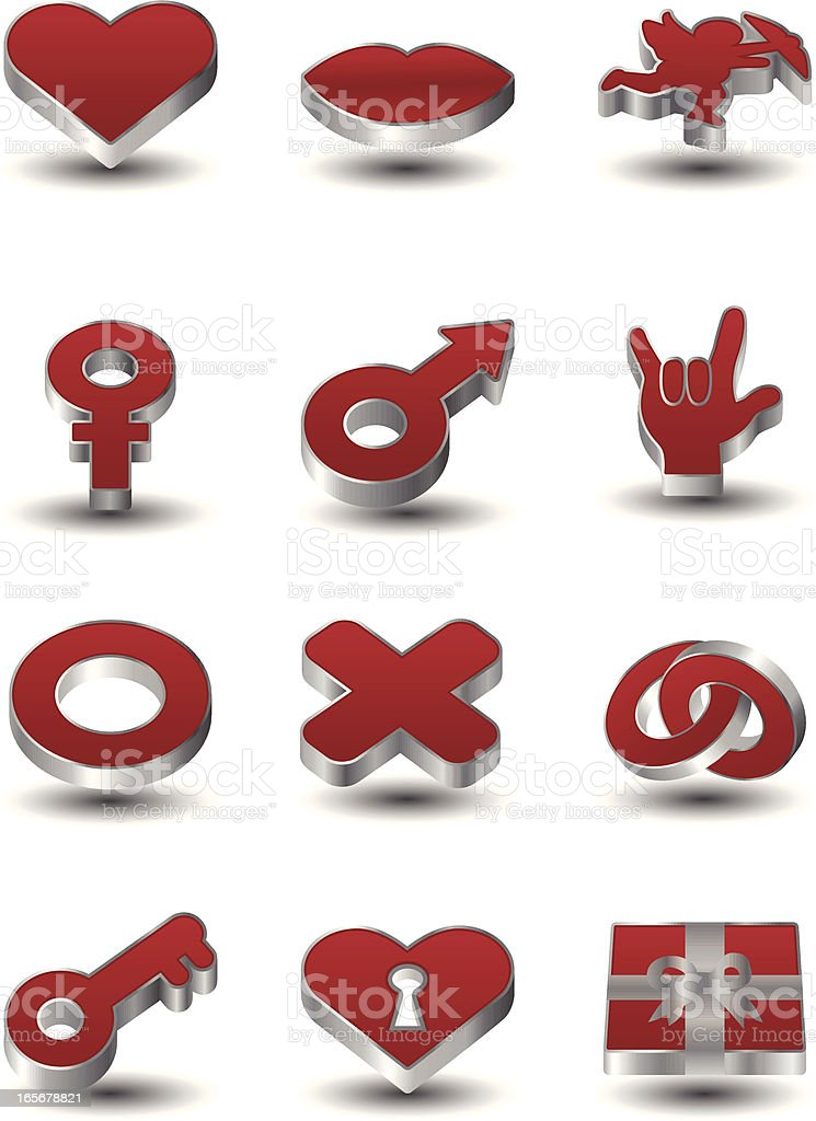 Valentines Day Icons royalty-free stock vector art