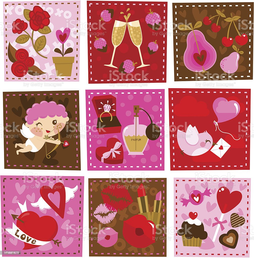 Valentine´s day  icons royalty-free stock vector art