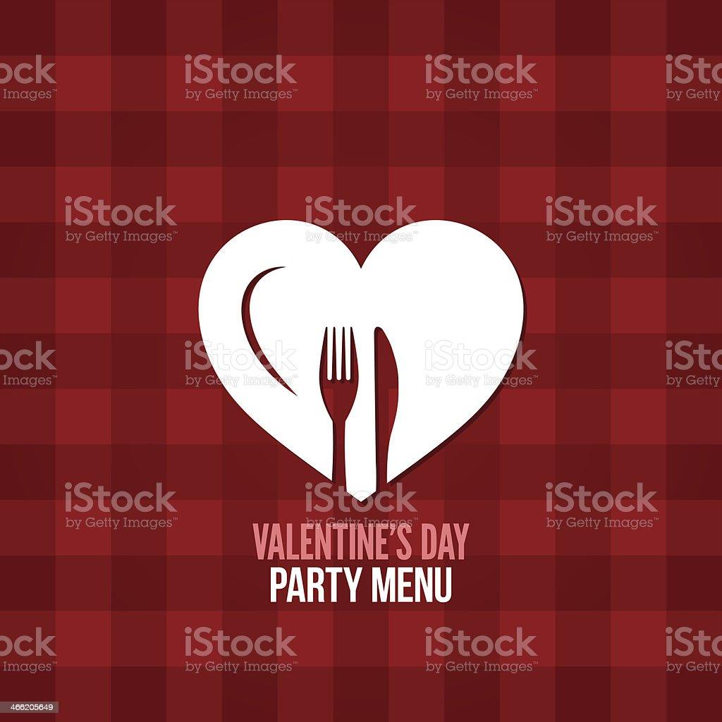 valentines day menu food drink design background vector art illustration