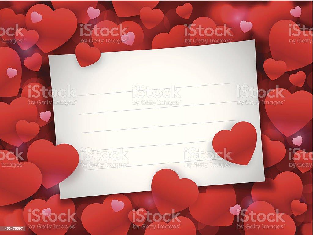 Valentine's Day Note Card vector art illustration