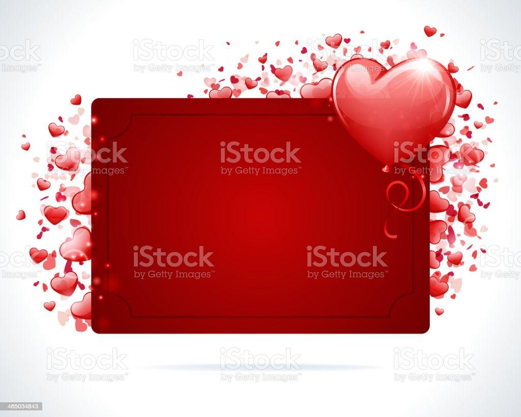 Valentine's day or Wedding vector background vector art illustration