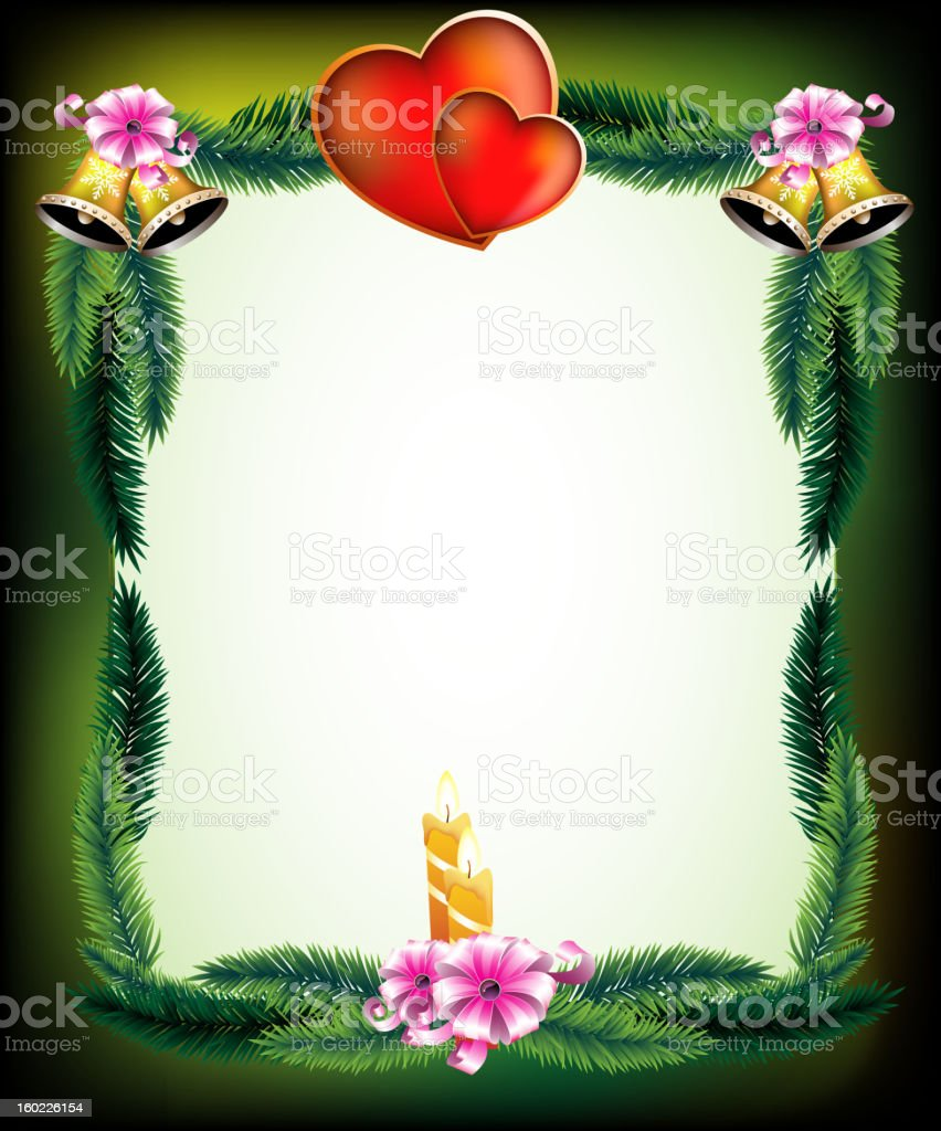 Valentine's Day original holiday frame royalty-free stock vector art