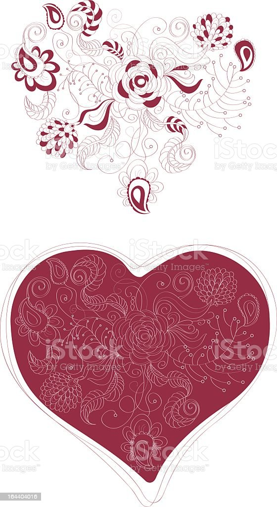 Valentine's Day Ornament royalty-free stock vector art
