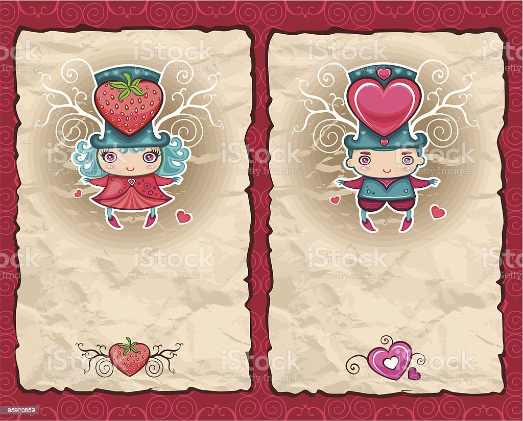 Valentine's Day  paper backgrounds series 2 royalty-free stock vector art