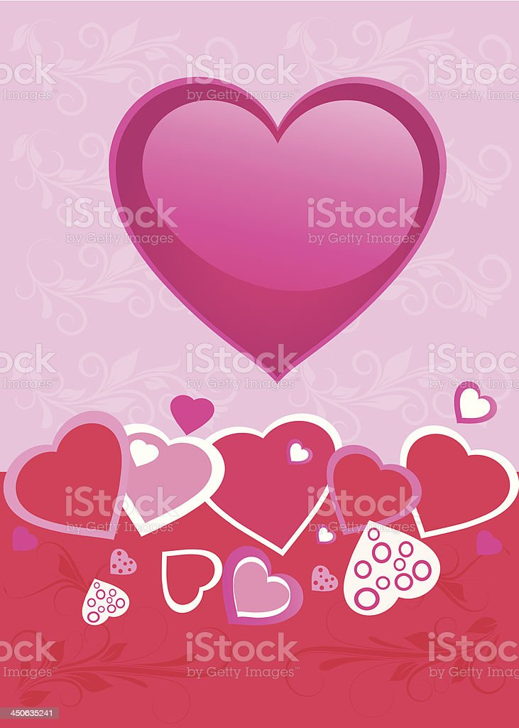 Valentine's Day poster royalty-free stock vector art