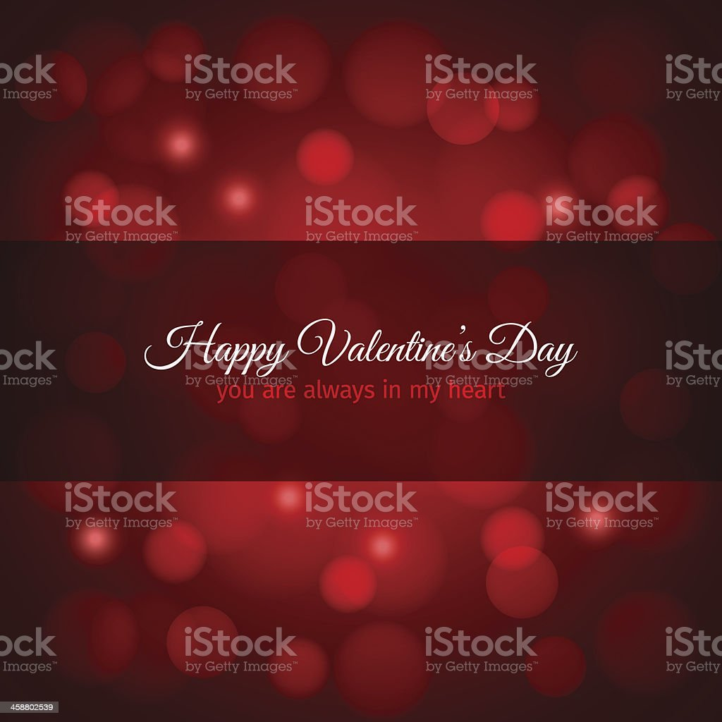 valentines day red lights design background royalty-free stock vector art