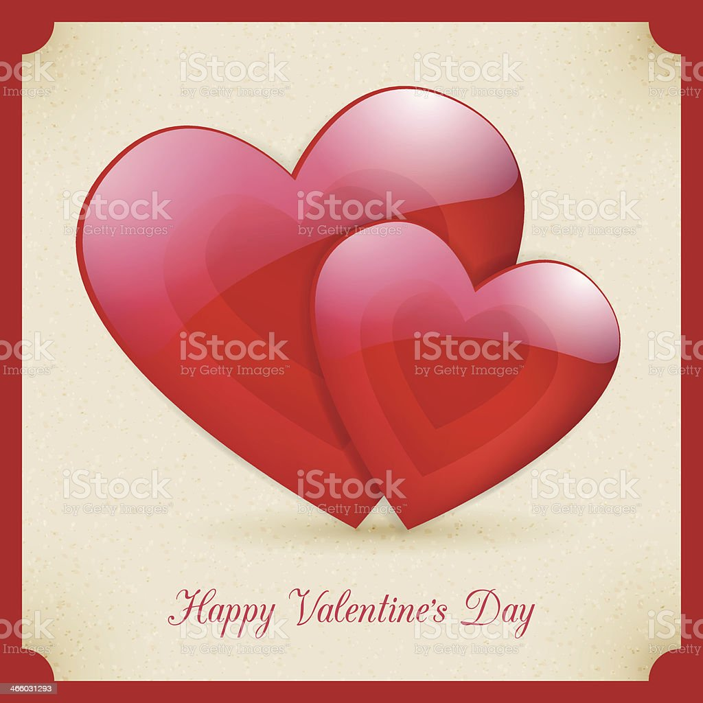 Valentine's Day retro poster card design royalty-free stock vector art