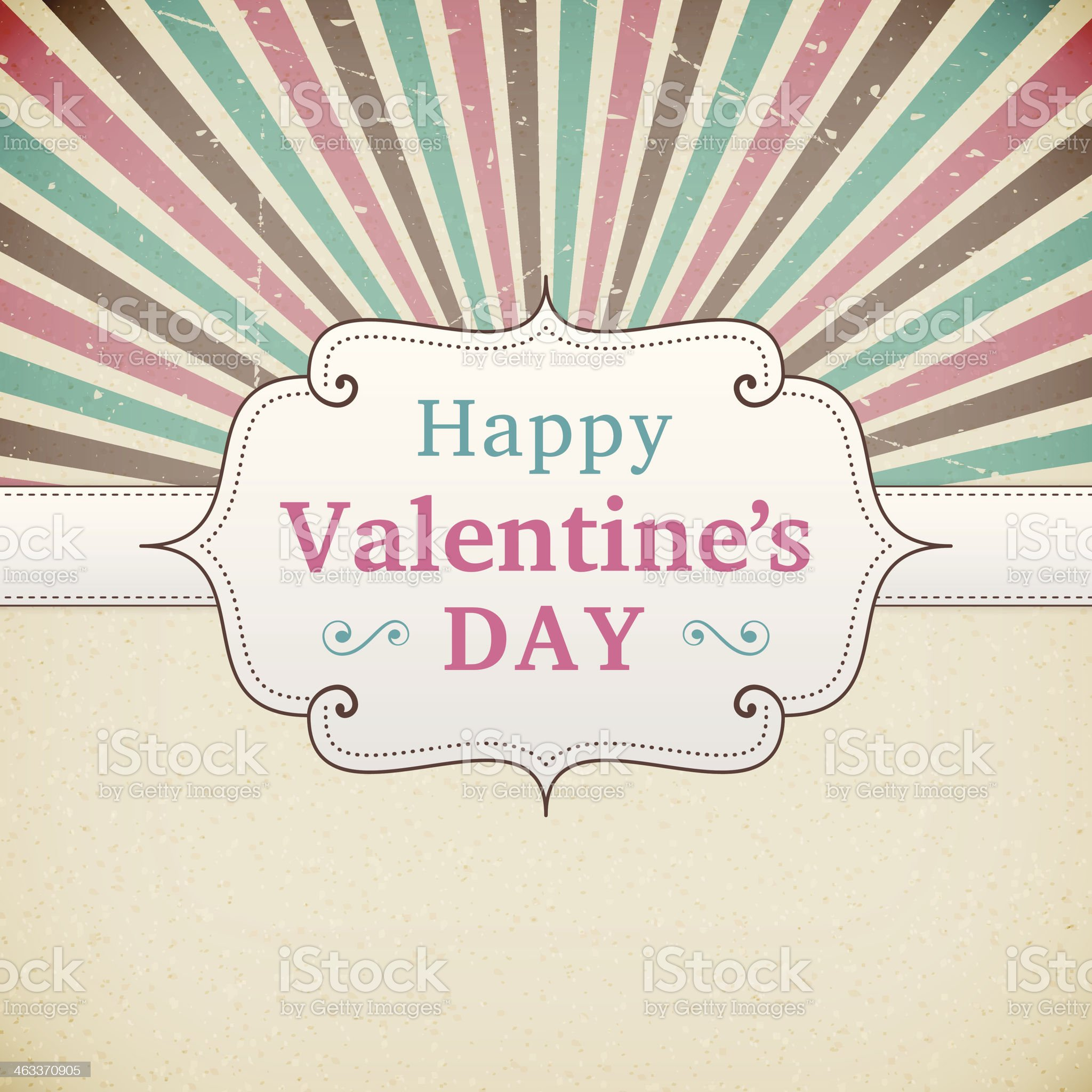 Valentine's Day retro poster royalty-free stock vector art