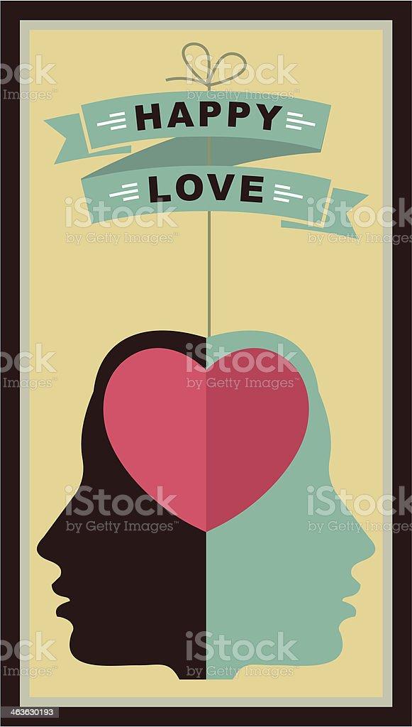valentine's day retro poster royalty-free stock vector art