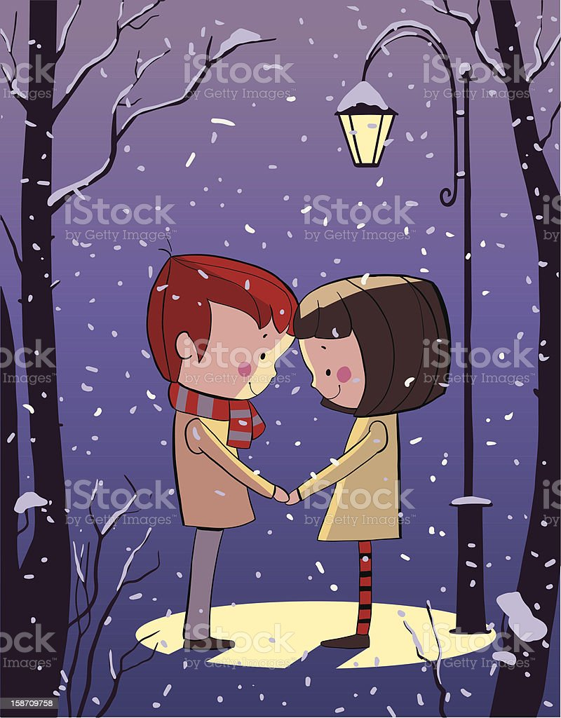 Valentine's Day, romantic people in love royalty-free stock vector art