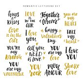 Valentines day romantic phrases collection