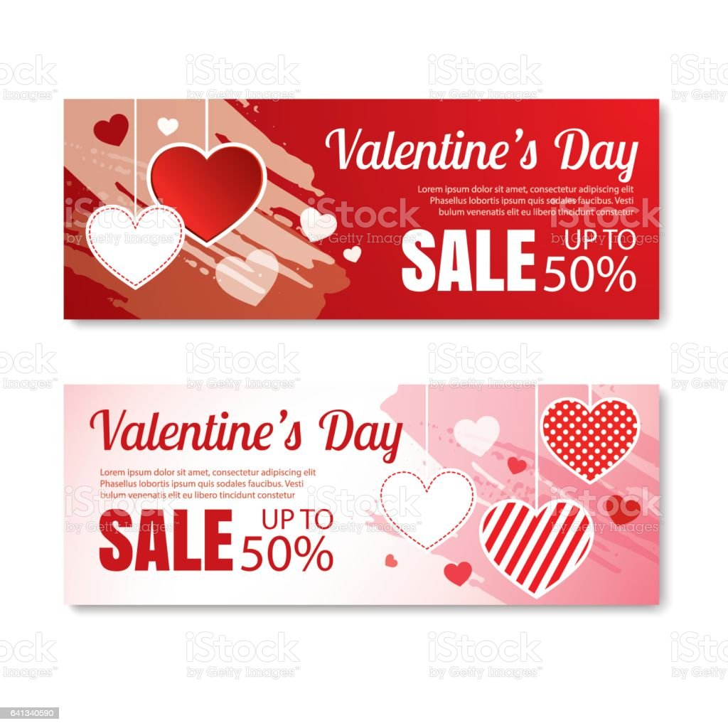 Poster design price - Valentine S Day Sale Offer Banner Template Shopping Market Poster Design Royalty Free