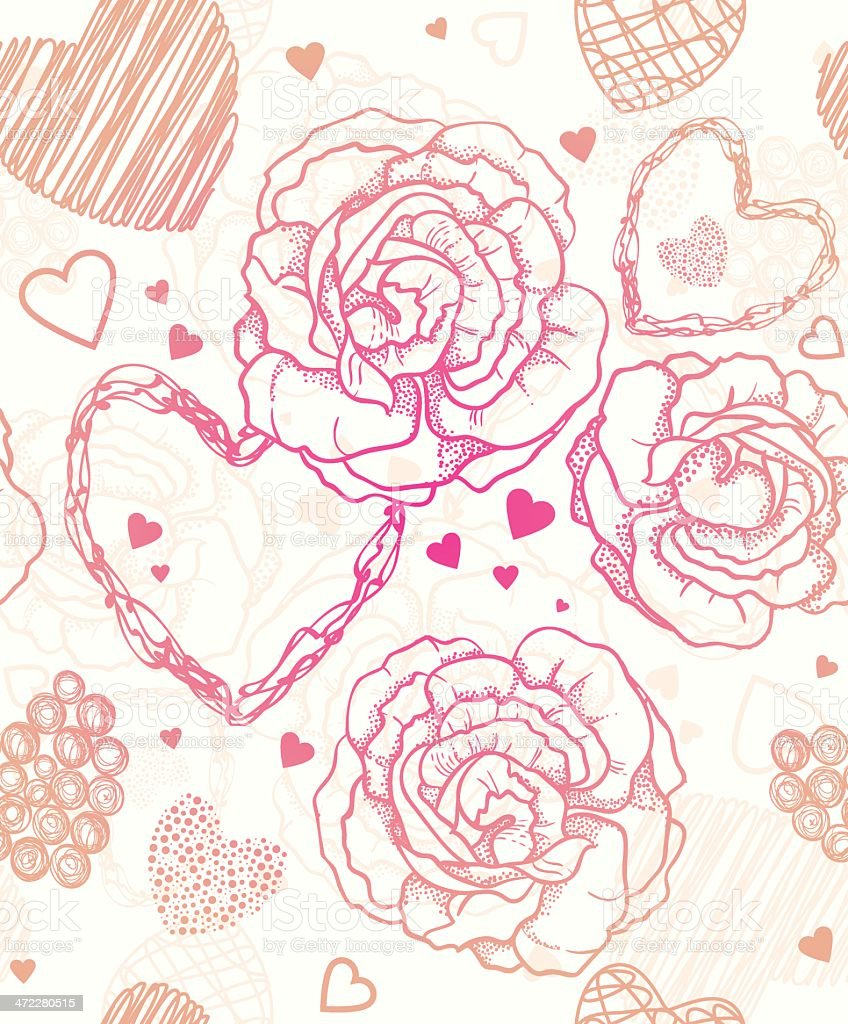Valentine`s Day seamless pattern royalty-free stock vector art