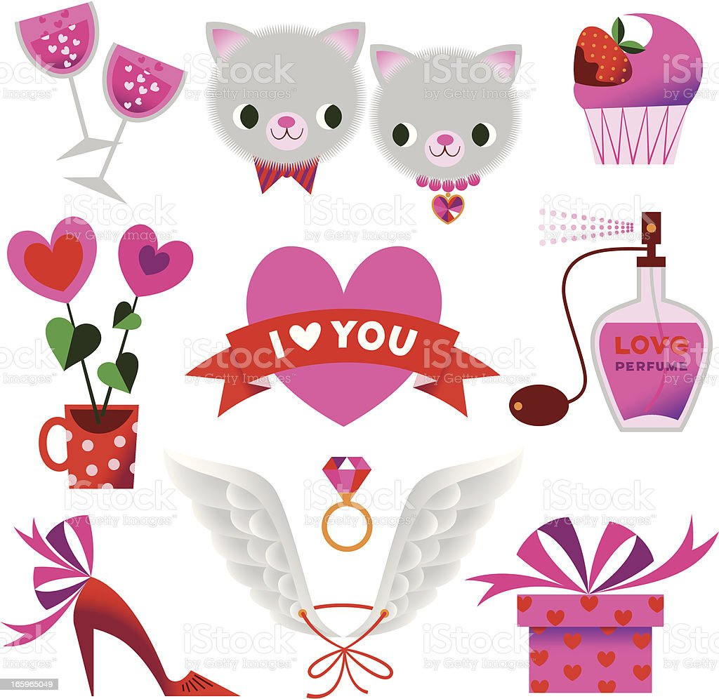 Valentine?s day Set. royalty-free stock vector art