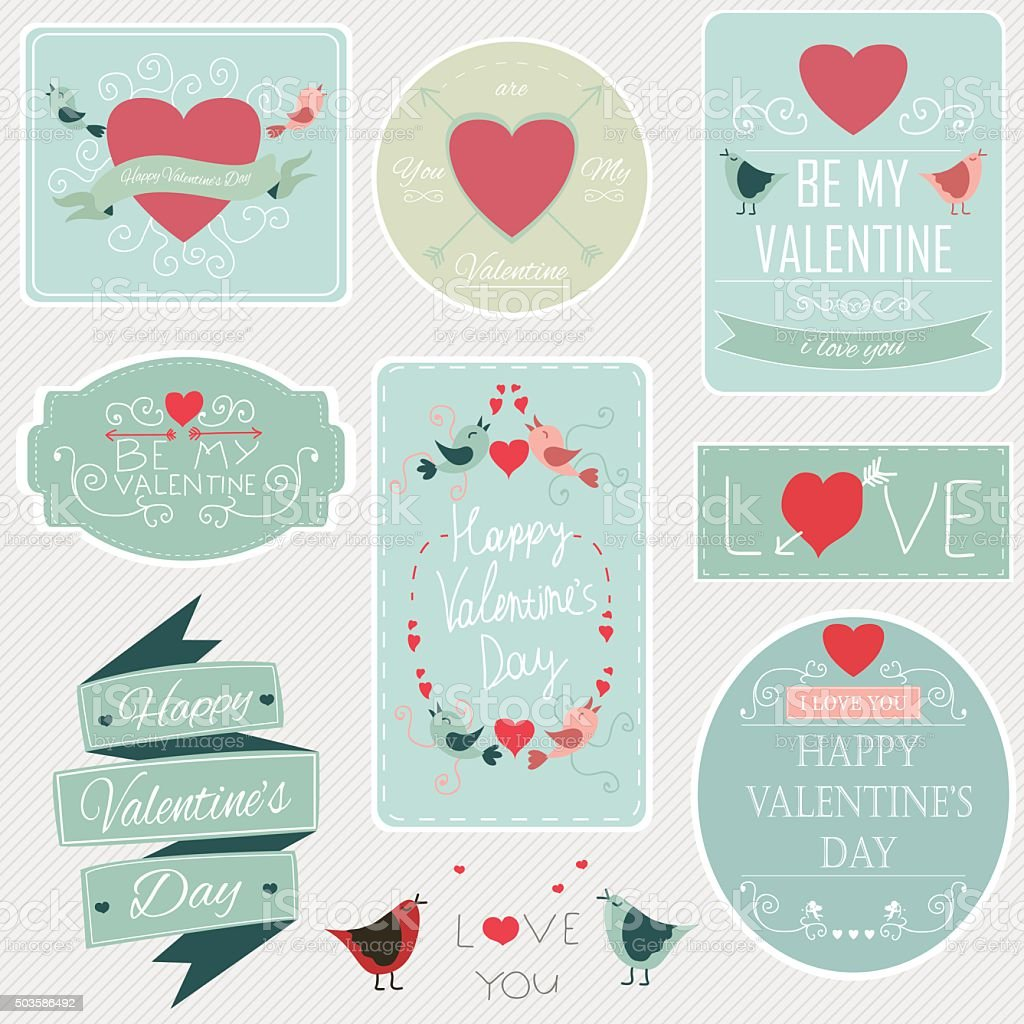 Valentines day set royalty-free stock vector art