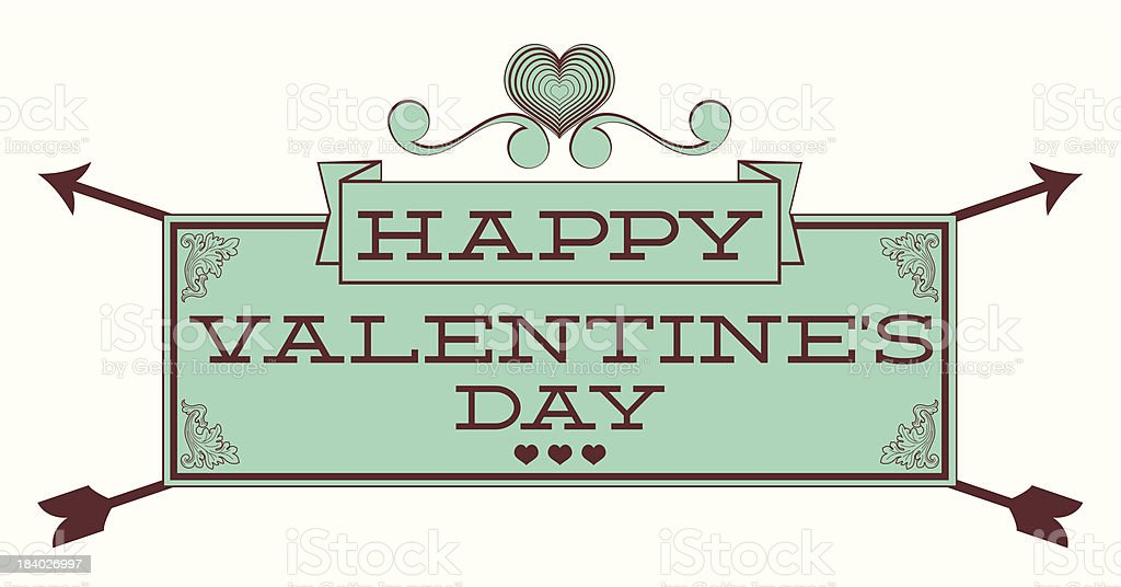 Valentine's Day. Sign royalty-free stock vector art