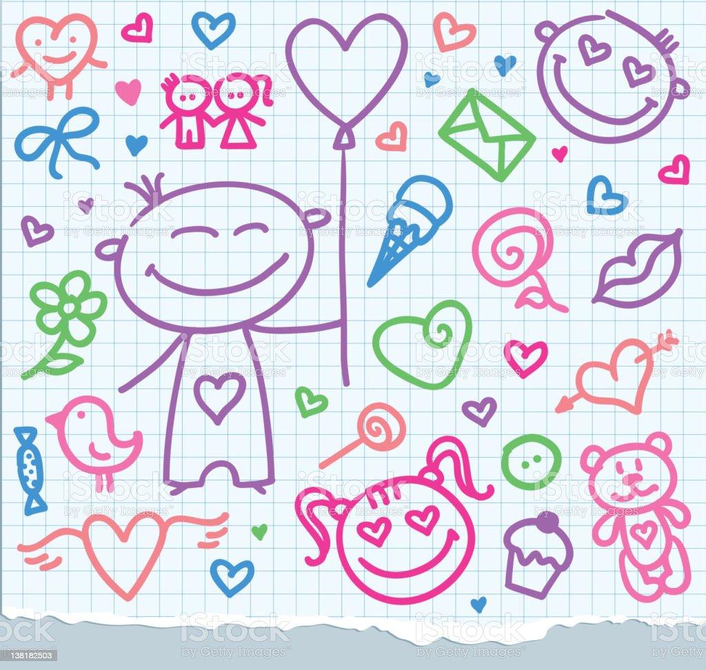 valentine's day symbols royalty-free stock vector art
