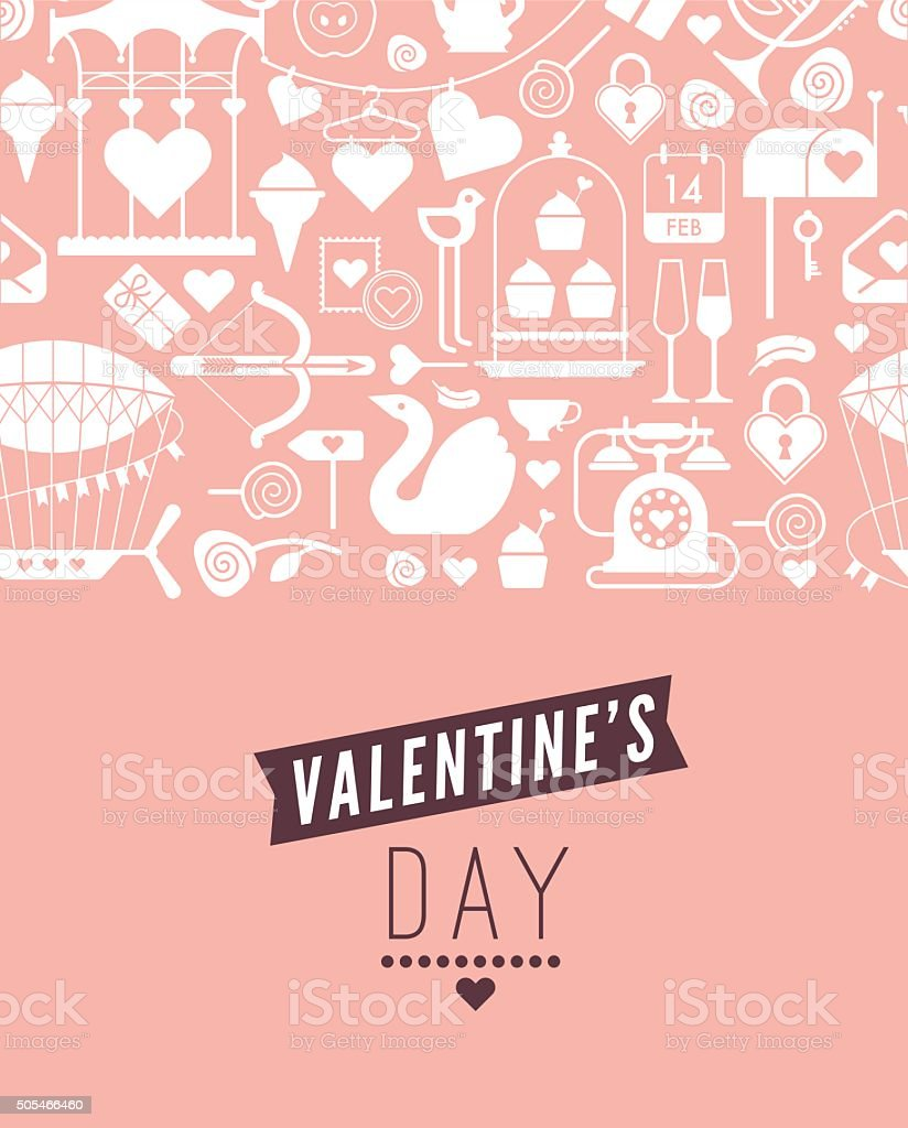 Valentine's day template vector art illustration