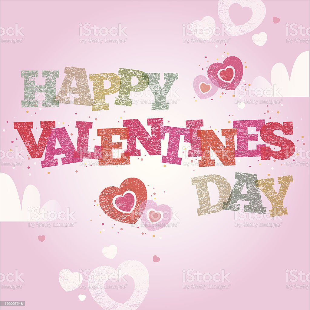 Valentines day text royalty-free stock vector art