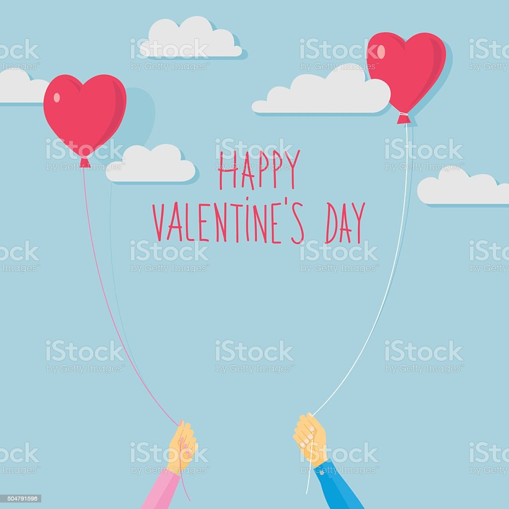 Valentine's Day vector card vector art illustration