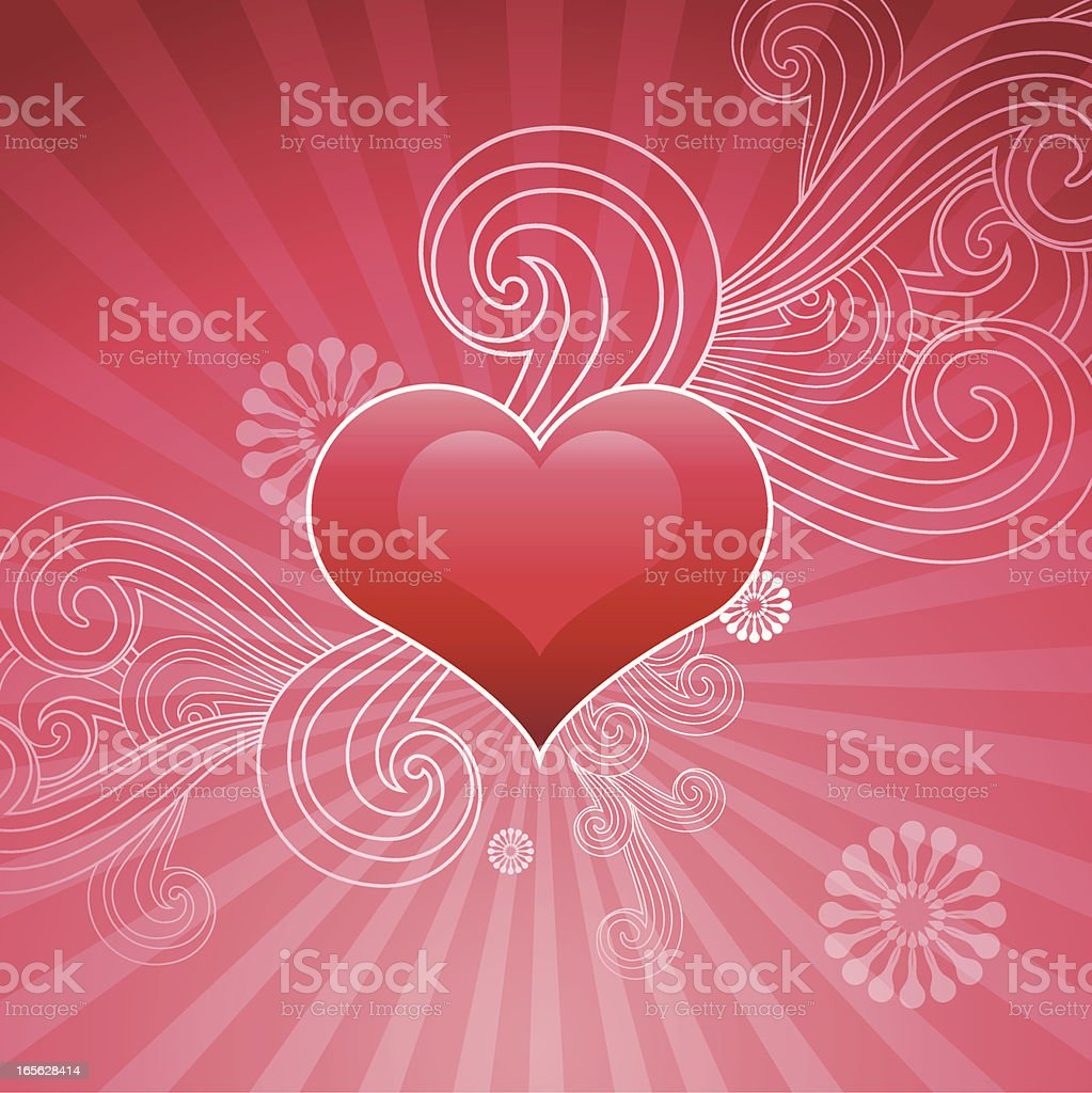 Valentine's Day vector art illustration