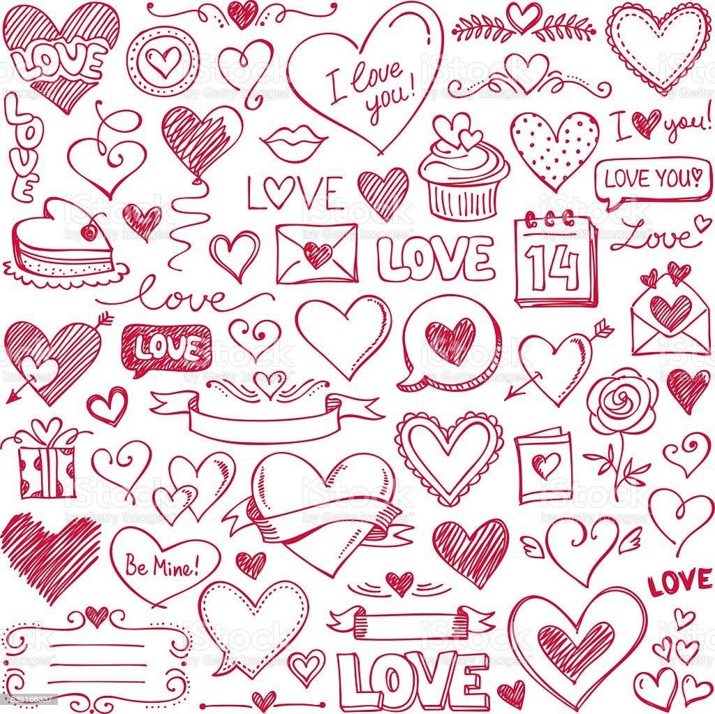 Valentine's Day vector art illustration