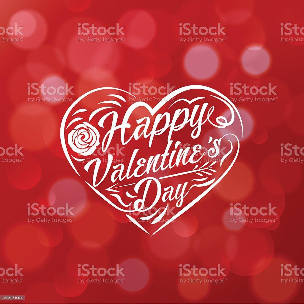 valentines day vintage lettering vector art illustration