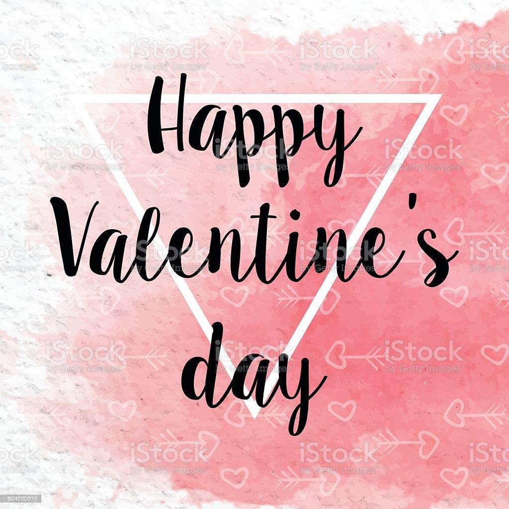 La Saint-Valentin Fond aquarelle aux taches stock vecteur libres de droits libre de droits